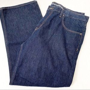 Old Navy Famous Jeans Straight Dark Rinse 40 x 30